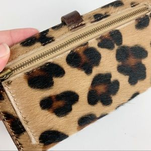 Madewell Bags - Madewell Leopard Print The Post Wallet Calf Hair